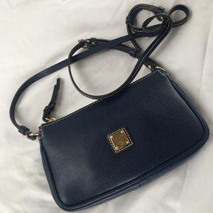 NWOT Dooney & Bourke Navy Leather Handbag